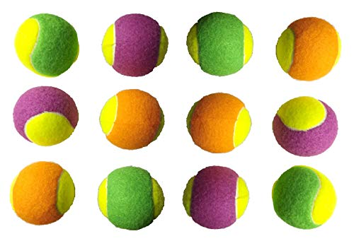 Tima Cricket Tennis Ball  Multicolor   Pack of 12