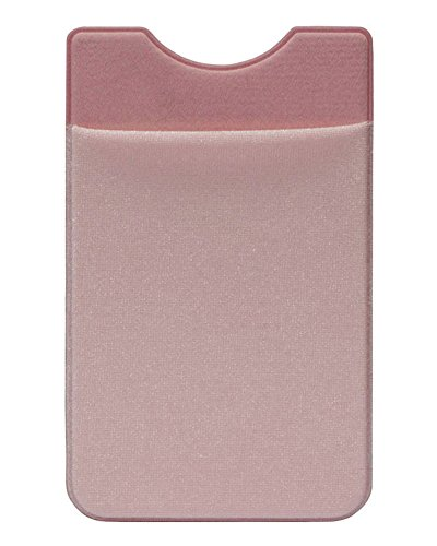 Phone Card Wallet,Cinny Self Adhesive Credit Card Secure Lycra Spandex holder (Pink A)