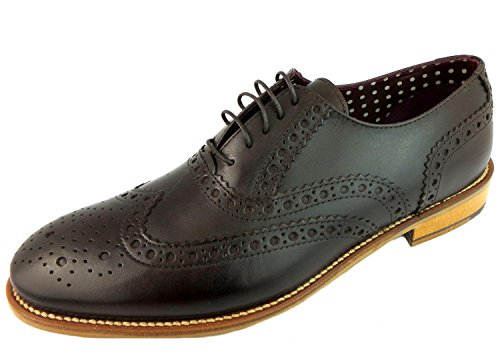 London Brogues Gatsby Brogue Schuhe Dunkelbraun Dark Brown