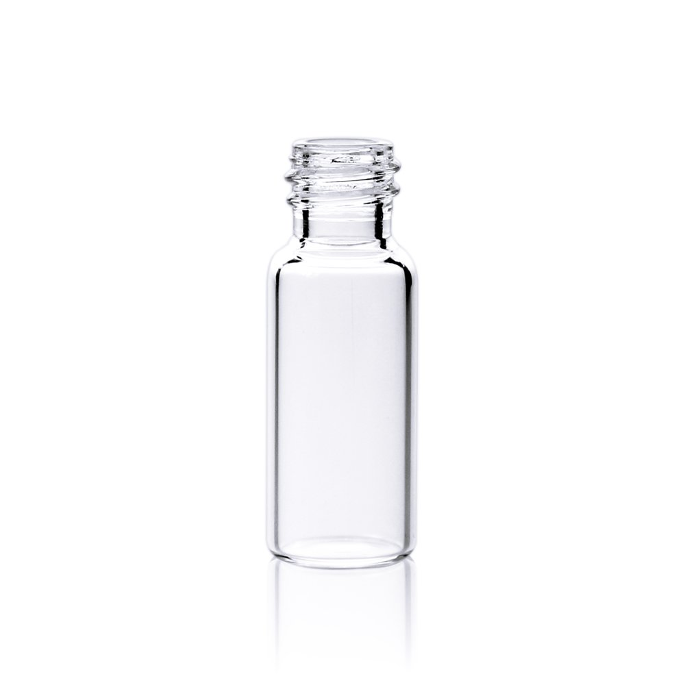 ALWSCI HPLC LC GC 1.5 ml Wide Opening Short Screw-Thread Vial, Clear, 12x32mm, 8-425 Top Type, 100 pcs/pk