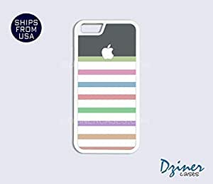 iPhone 5 5s Case - Colorful Stripes Grey Top iPhone Cover