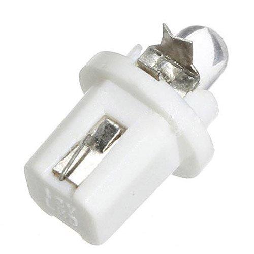 SODIAL R 1 PAIR OF BULBS LED T5 White B8.5D 12V 12V DASHBOARD INSTRUMENTS dashboard Bulbs
