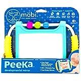 MOBI Peeka Baby Developmental Mirror - Safe Newborn Toys, Brain Development 0 Months+, Flat, Upright, Portable Small Mirror, Best for Tummy Time Play