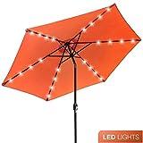 Best Patio Umbrellas - Sorbus LED Outdoor Umbrella, 10 ft Patio Umbrella Review