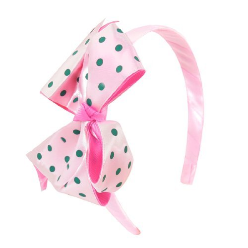 DealMux Girls Polyester Fabric Bowknot Accent Hair Band Head Hoop, Light Pink, 0.05 Pound ()
