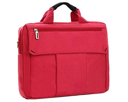 Bolsa Ordenador Portátil Espacioso Bolsa Mensajero de Manija Maletín / Tableta / Macbook Rojo