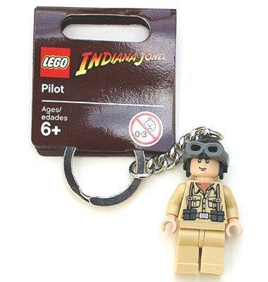 Lego Indiana Jones Motorcycle - Lego Indiana Jones Pilot Figure