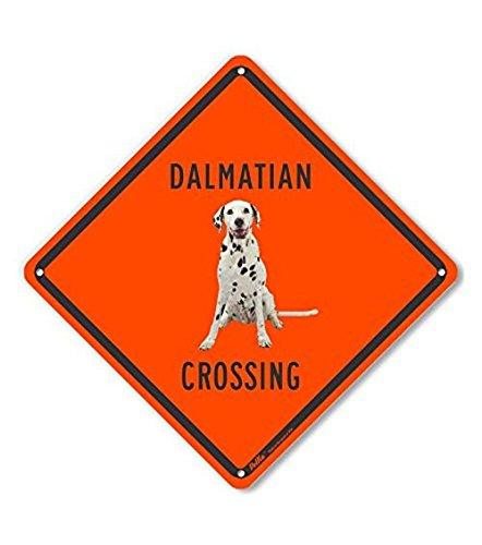 10 x 10 10 x 10 Lyle Signs Inc. Orange Back PetKa Signs and Graphics PKAC-0564-NA/_10x10Dalmatian Crossing Aluminum Sign