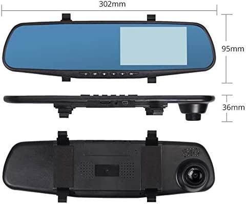 4.3/'/' HD 1080P Car DVR Mirror Dash Camera  Recorder Memory Card Dual Lens 32G UK