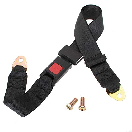 - DeemoShop Universal Car Van Truck Seat Lap Belt Two Point Adjustable Safety Buckle 2 Point