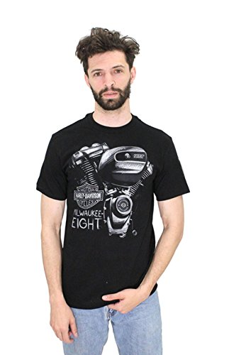 [Harley-Davidson Mens Metal Zone Milwaukee-Eight Black Short Sleeve T-Shirt (2X)] (Milwaukee Harley Davidson)