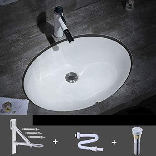洗面台,手洗い器 壁付け型 陶器 洗面ボール 手洗い器 壁付け型 手洗い鉢 ガラス 手洗い鉢 おしゃれ 洗面ボ 手洗器 楕円形 洗面台 省スペ 室外 ミニ型 (Size : 6005)