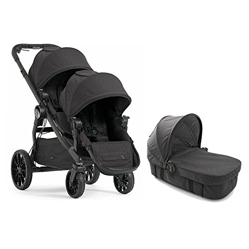 Cheap Baby Jogger 2017 City Select LUX Double Stroller WITH LUX Bassinet (Granite)