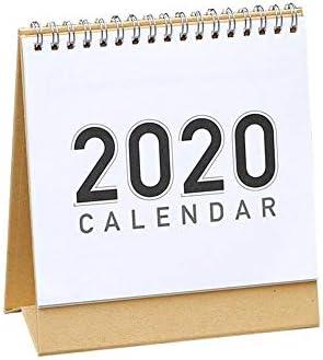 sanguiner tischkalender 2020 Desktop Kalender DIY handbemalte Notizblock Zeitplan Plan Memo, 360 ° Seite drehen (6 Stile)