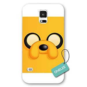 Onelee(TM) - White Frosted Adventure Time - Jake Face Samsung Galaxy S5 Case & Cover - White 1