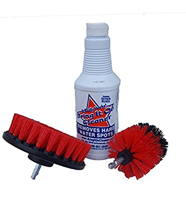 Bring It On Cleaner Water Spot Remover Plus 2 Drill Brushes, Clean Tile, Cleaning Drill Scrub Brush, Cleaning Brush For Drill, Drill Brush Attachment