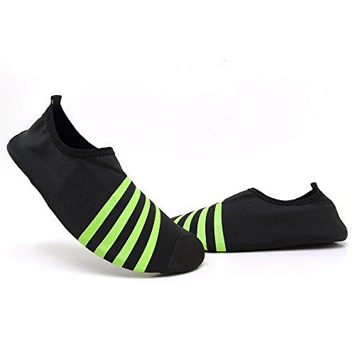 Schnell trocknende Aqua-Wasser-Schuhe Santiro Frauen-Männer für Strand-Pool-Brandungs-Yoga-Übung Schwarz 2