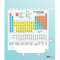 Cortina de ducha de mesa periódica (vinilo EVA) - La cortina oficial de la teoría del Big Bang