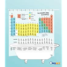 Periodic Table Shower Curtain by SMART- EVA vinyl