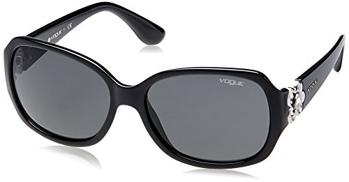 VOGUE Women's Nylon Woman 0vo2778sb Square Sunglasses, Black, 58 - Designer Vogue Sunglasses