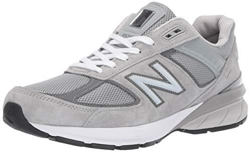 New Balance Men's 990v5 Sneaker, GREY/CASTLEROCK, 9.5 W US