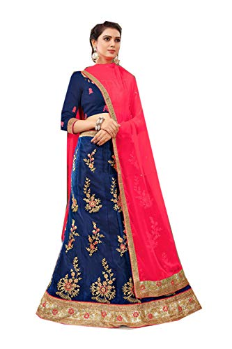 Ethnic Indian Da Women Blue Choli Dark Designer Traditional Facioun Lehenga Partywear XPf5xq6f