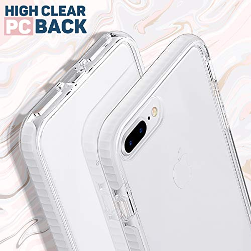MATEPROX iPhone 8 Plus Case iPhone 7 Plus Case Clear Shield Heavy Duty Anti-Yellow Anti-Scratch Shockproof Cover…