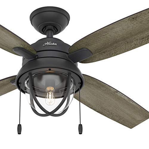 Hunter Fan 52 inch Casual Natural Iron Indoor Ceiling Fan with Light Kit ()