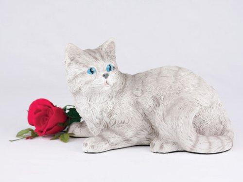 Ever My Pet Companion Striped Tabby Cat Pet Urn Grey