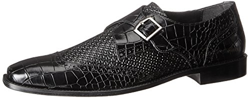 Stacy Adams Men's Giannino-Monk Strap Wingtip Slip-On Loafer Black 2014 unisex cheap online Cheapest for sale outlet top quality cheap brand new unisex low price fee shipping for sale OMyQwdqAmR