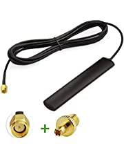 Wlaniot 4G LTE GSM Antenna Omni-Directional 700-2600MHZ Adhesive Mount Antenna with SMA Male Connector for Car Vehicle Cell Phone Signal Booster 10ft