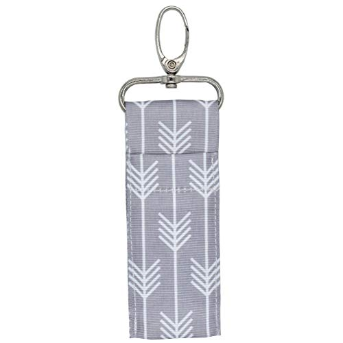 Chapstick Key Chain Holder with Clip Portable Lip Balm Cloth Holder Case