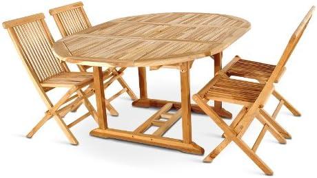 XXS ® de 5 meubles de jardin en bois de teck entretien ...
