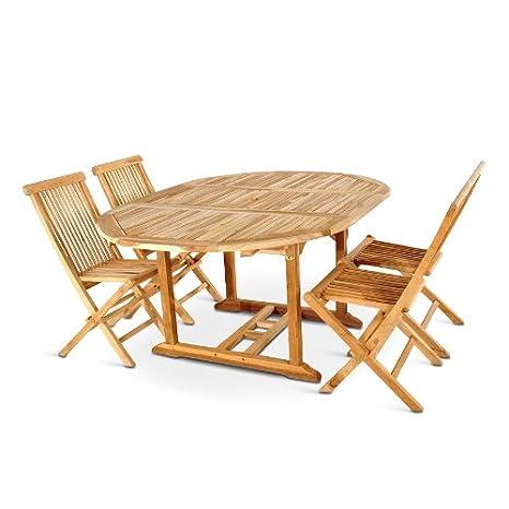 XXS muebles para jardín de Borneo 5 tlg madera de teca ...