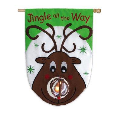 Jingle All The Way Applique Garden Flag Size: 18