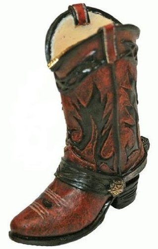Western Cowboy Boot Keychain, 2.5-inch