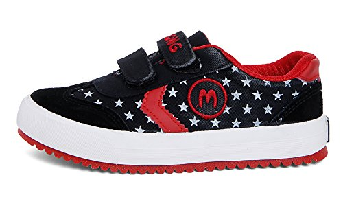 Legend E.C Boys' Cute Star Printing Canvas Shoes Comfortable Casual Sneakers 1
