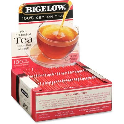 Bigelow Products - Bigelow - Single Flavor Tea, Premium Ceylon, 100 Bags/Box - Sold As 1 Box - One Bag Makes 8-oz. Cup. - Great for Home and Office. -