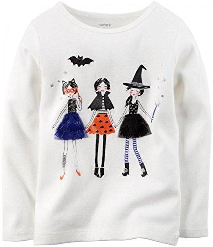 Carter's Baby Girls' Long-sleeve Halloween Tee (3 Months, White) (Girls Halloween Shirts)