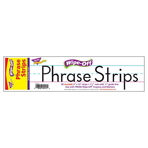 12 Piece Wipes (Trend Enterprises Wipe-Off Phrase Strips (30 Piece), 12