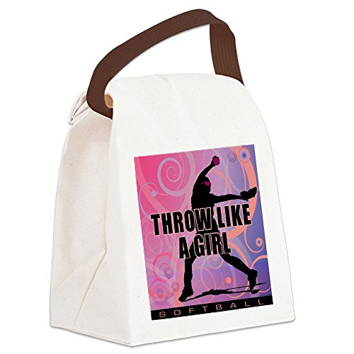 2011 Softball (CafePress - 2011 Softball 8 Canvas Lunch Bag - Canvas Lunch Bag with Strap Handle)