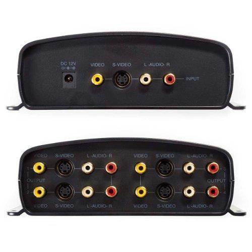 Output Video Splitter (RadioShack 1500320  1-Input/4-Output A/V Component Video Sound S-Video Distribution Amplifier)