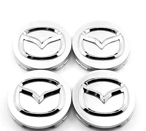 JXHDKJ 4pcs W057 57mm Car Styling Accessories Emblem Badge Sticker Wheel Hub Caps Centre Cover for Mazda 2 3 6 ATENZA AXELA CX-5 CX-7 CX-8