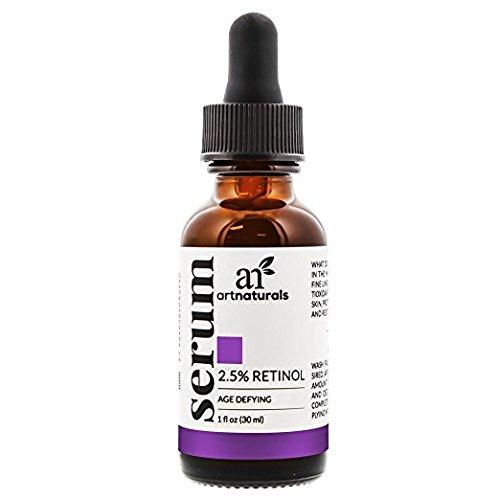 ArtNaturals Enhanced Retinol Serum, 2.5% with 20% Vitamin C and Hyaluronic Acid, Best anti Wrinkle/Aging Serum for Face and Sensitive Skin, 1 oz.