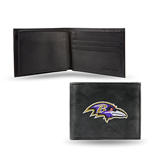 NFL Baltimore Ravens Embroidered Leather Billfold -