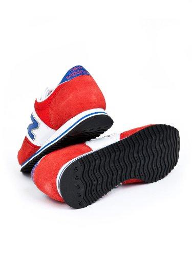 New Balance - Zapatillas de cuero para mujer rojo - rojo