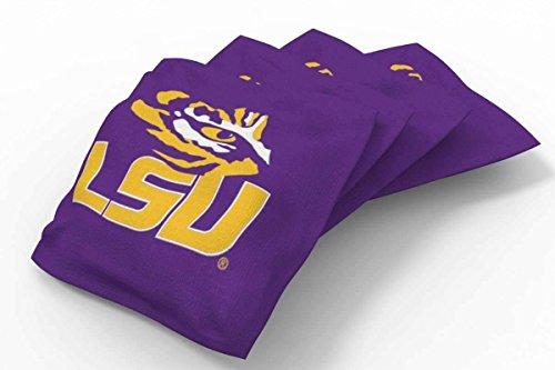 PROLINE 6x6 NCAA College LSU Tigers Cornhole Bean Bags - Solid Design ()