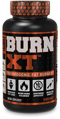 Burn-XT Thermogenic Fat Burner - Weight Loss Supplement, Appetite Suppressant, Energy Booster - Premium Fat Burning Acetyl L-Carnitine, Green Tea Extract, More - 60 Natural Veggie Diet Pills (Best Food To Reduce Weight Fast)