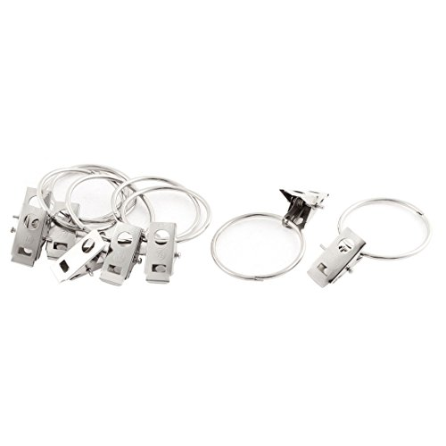 uxcell Home Silver Tone Clothes Hanging Clothing Peg Clips C