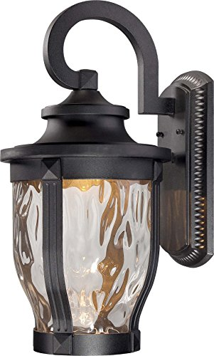 Minka Lavery Outdoor Wall Light 8763-66-L Merrimack Cast Aluminum Exterior LED Wall Lantern, Black ()